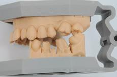 スキャナ使用時に使う3Dプリンターで作製した模型